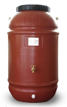 60-gallon recycled plastic rain barrel
