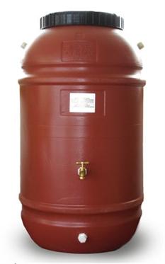 60-gallon recycled plastic rain barrel
