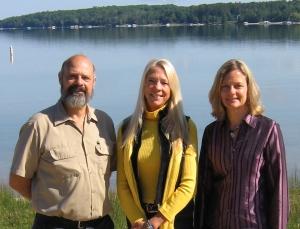 Michael Buttigieg, President; Michelle Rick-Biddick, Executive Director; and Maureen Radke, from CCCF.